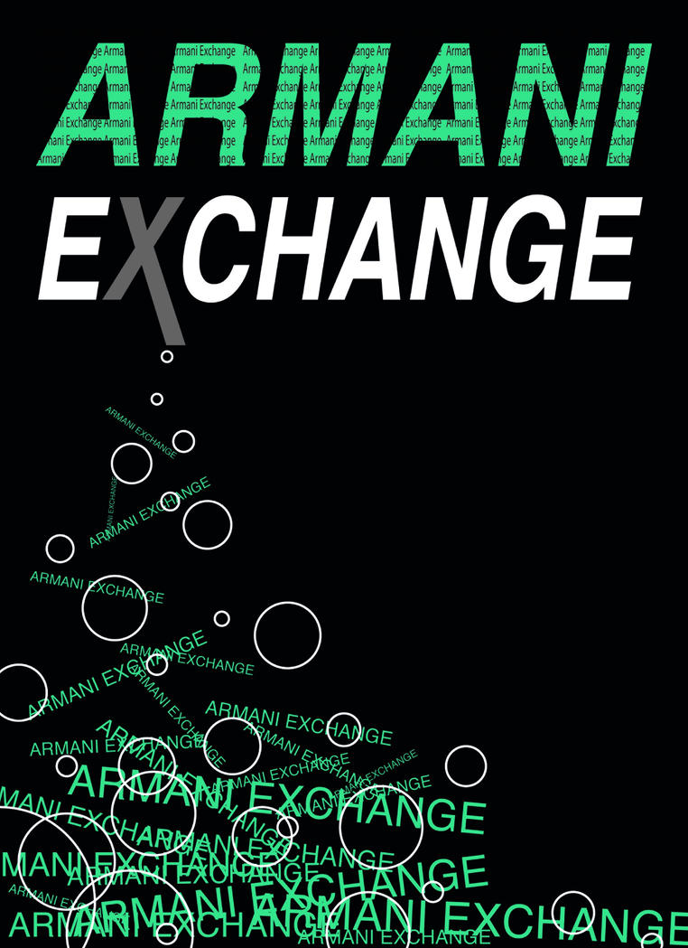 Armani exchange logo wallpaper