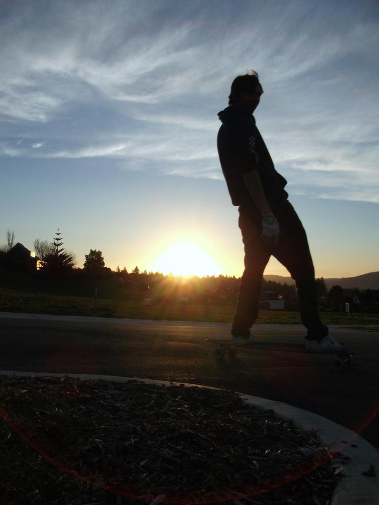 longboarding photography sunset