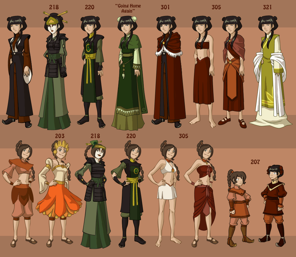 Avatar Airbender: The Different Clothes Of Avatar : TheLastAirbender