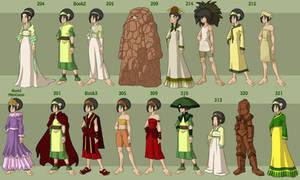 Toph's Wardrobe