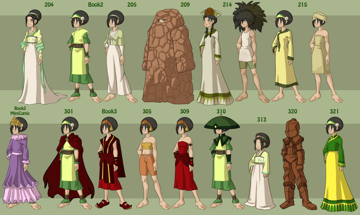 Character Design Avatar The Last Airbender : Toph s wardrobe by dressup avatar on deviantart