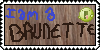 I am a brunette - STAMP by QueenofBacon