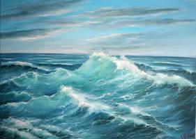 Kraeftiges Meer by Ludwina