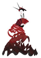 Madame Buttefly in Red by Alivet