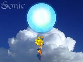 SSJ Sonic Spirit Bomb part 2 by o0Vegeta0o