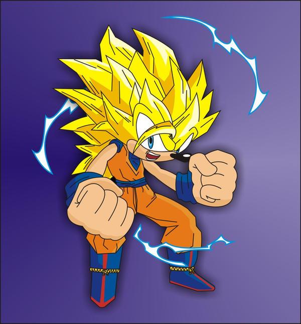 Sonic Super Saiyan 3 by o0Vegeta0o