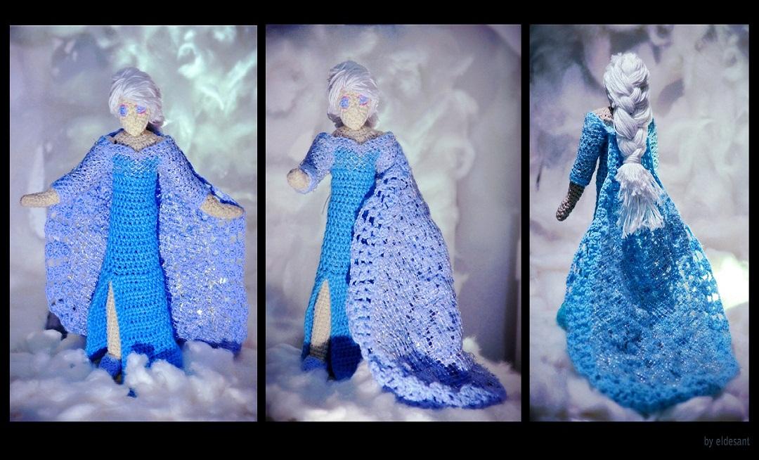 Crochet Elsa Doll Free : Queen Elsa Disneys Frozen crochet amigurumi Dolls by el ...