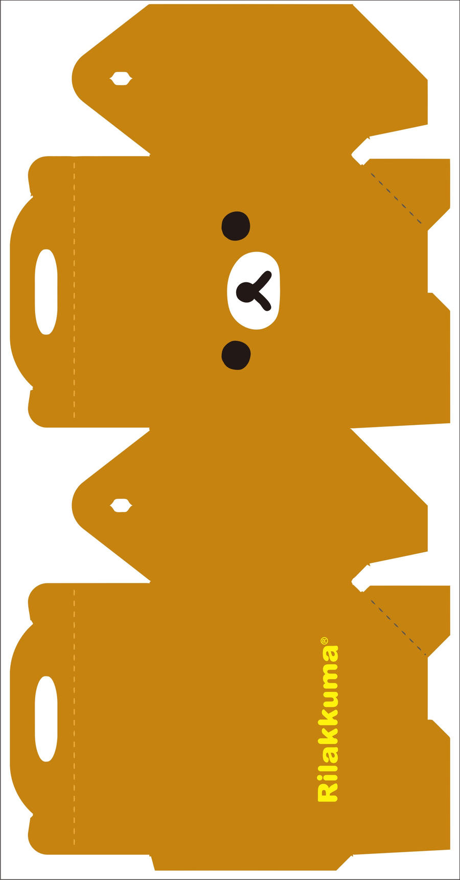 Rilakkuma box 1 by kreystalx on deviantart for Cute papercraft templates