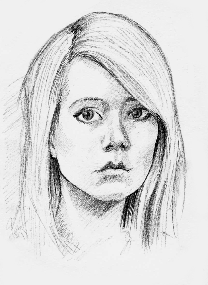 how to draw a portrait easy