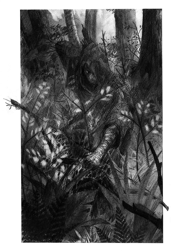 Grass, Bush, Tree, Bark and Log by Daandric