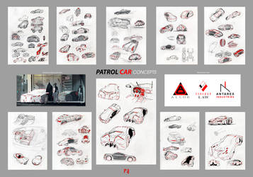 Alcor - Patrol Car - Concepts and sketches by Daandric