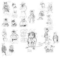 Cat and Mouse minicomic - character concepts 1