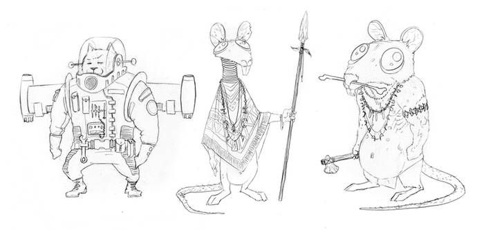 Cat and Mouse minicomic - final character concepts