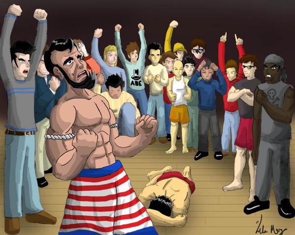 Muay Thai Champ:  Abe Lincoln by Kelmo