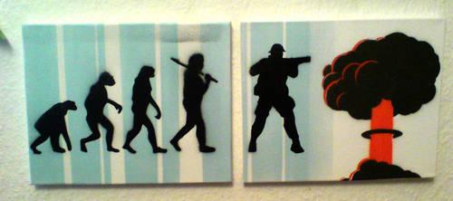Evolution I+II by klappstuhl-artist
