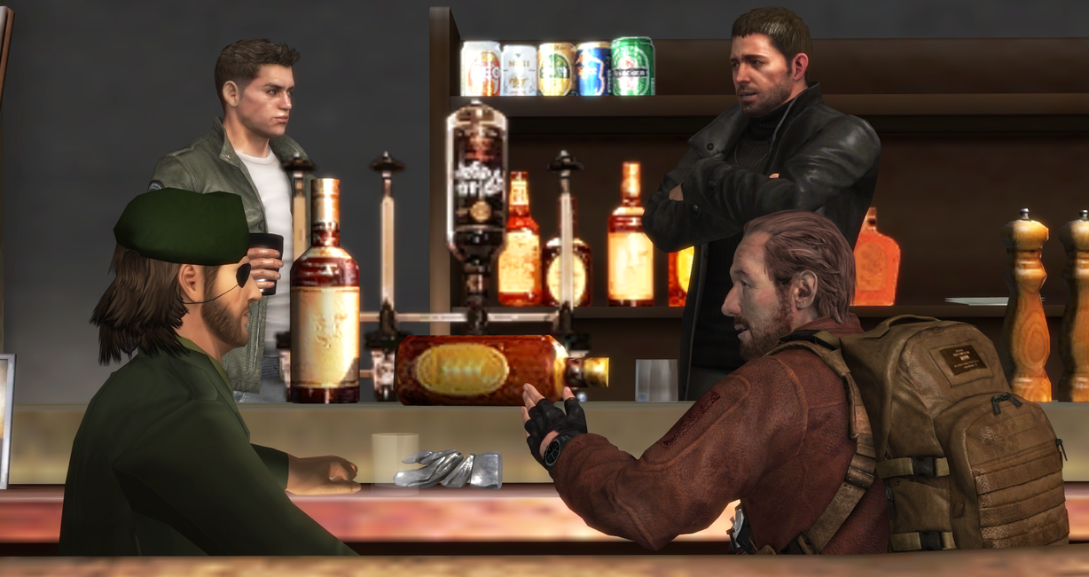 A Random Bar Scene by majormario