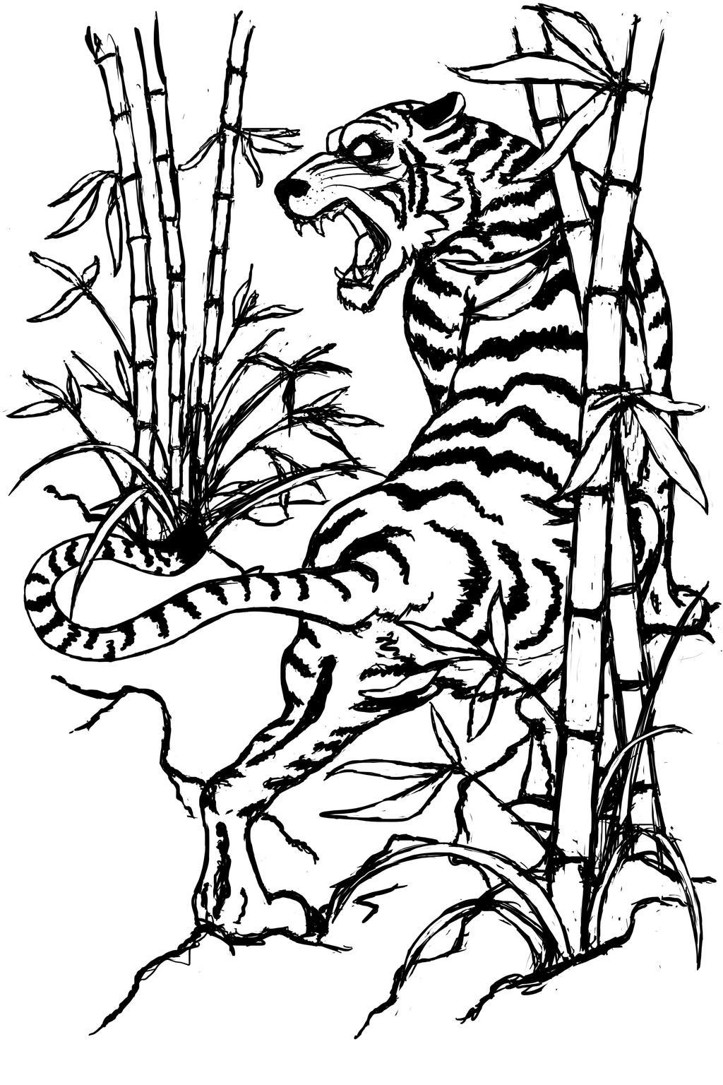 Japanese Tiger Tattoo Drawings