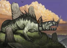 Wingless dragon _ wyrm by Wiggers123