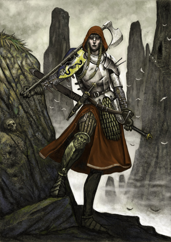 Female warrior by Wiggers123 on DeviantArt
