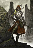 Female warrior v2 by Wiggers123
