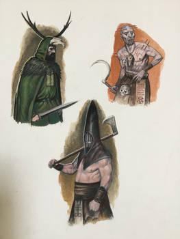Quick acrylic gouache characters!