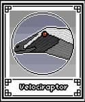 Pixel-Art Velociraptor
