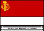 Pixel Democratic Republic of Canada Flag