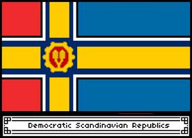 Pixel Democratic Scandinavian Republics Flag