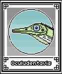 Pixel-Art Oculudentavis (Lizard)