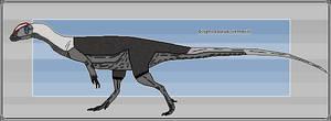 Pixel-Art Dilophosaurus wetherilli