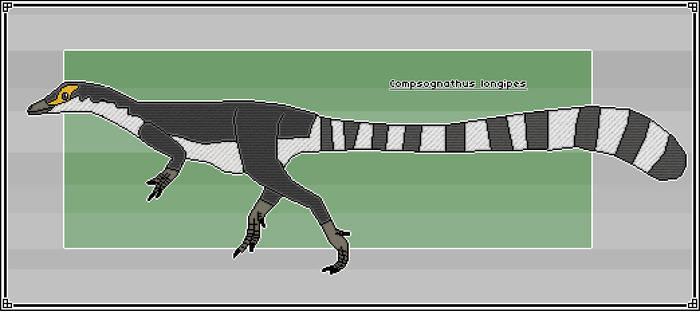 Pixel-Art Compsognathus longipes