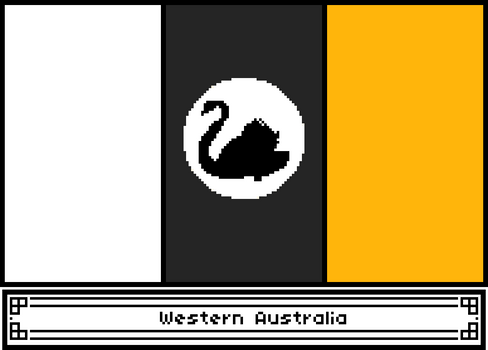 Pixel Western Australia Flag