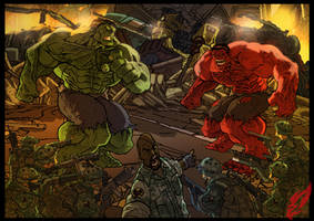 Hulk VS Hulk by BongzBerry
