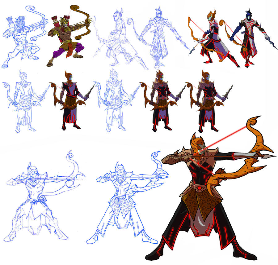Character Development Design Process : Character development karna by bongzberry on deviantart