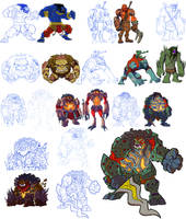 Character Designs: Raksasa by BongzBerry