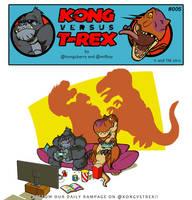Kong VS T-Rex 005 by BongzBerry