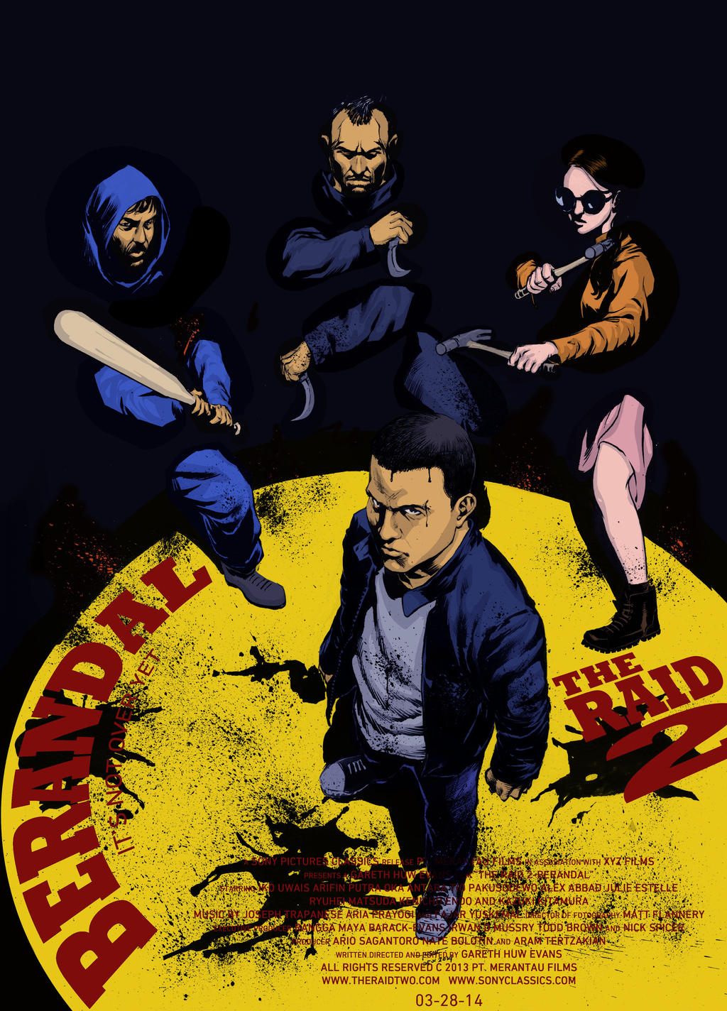 The Raid 2 : Berandal Poster A by BongzBerry
