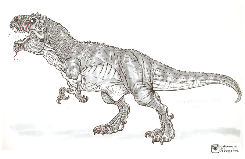 jurassic world indominus rex coloring pages sketch