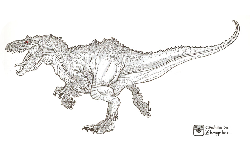 Indominus Rex Jurassic World Coloring Pages