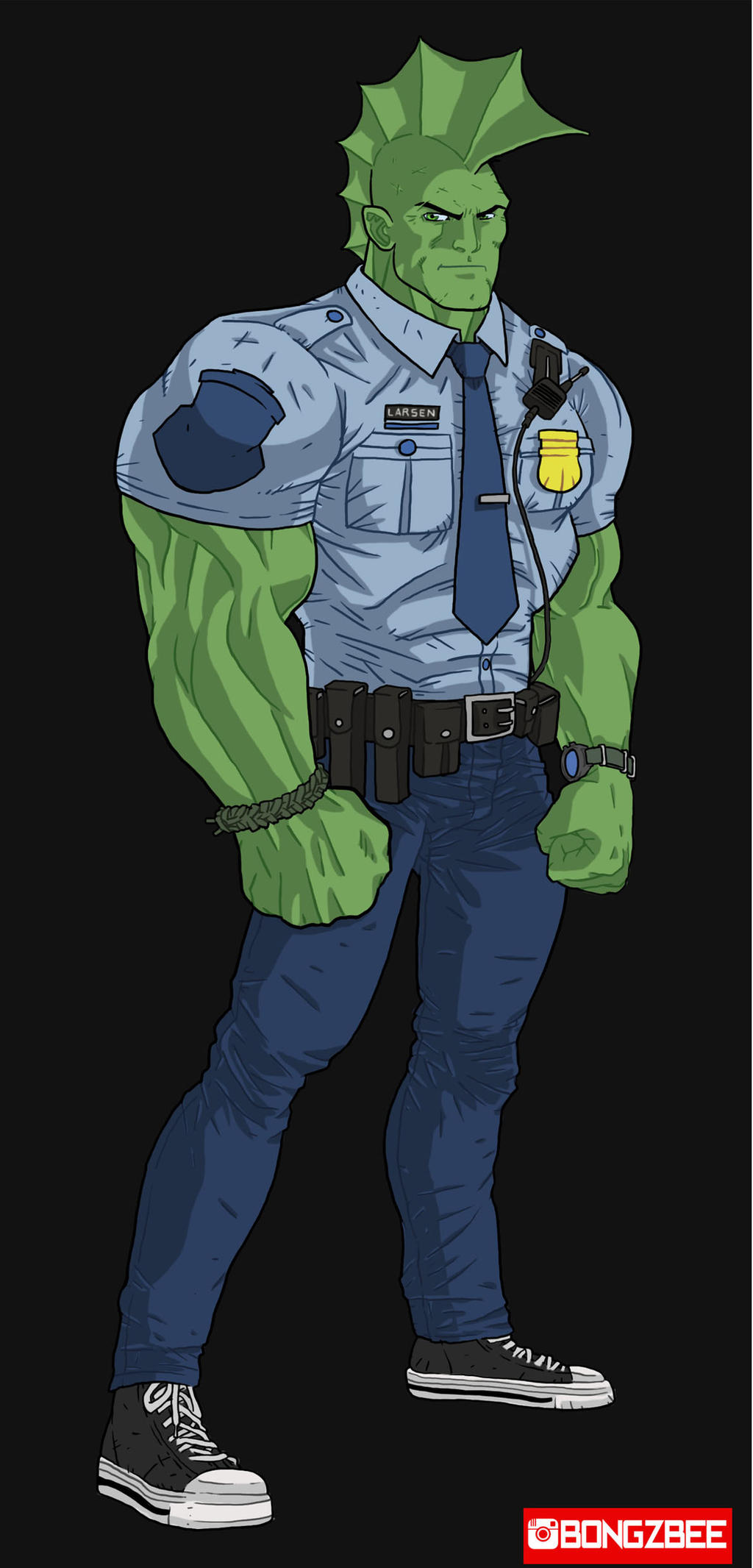 The Name's Savage, Officer Savage Dragon. by BongzBerry