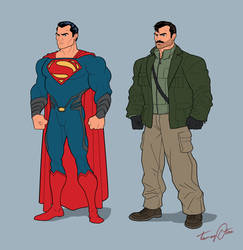 Kal-El and Agent August Walker by BongzBerry