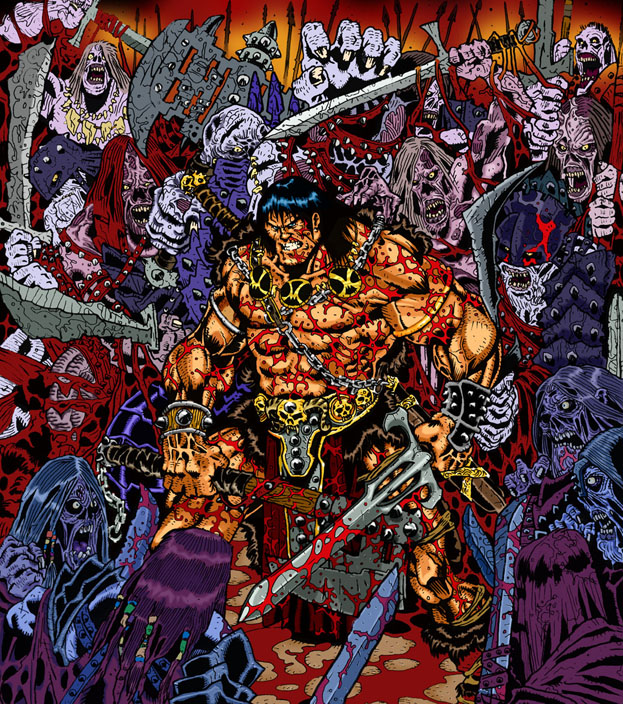 C >> Conan Versus Undead Army by BongzBerry on DeviantArt