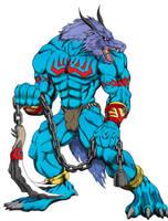 Blue dragon by gul-munthos
