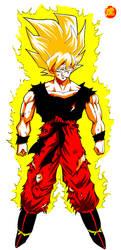 Son Goku SSJ by LadyYomi