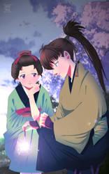 Hakuouki OC: Chie and Heisuke.