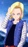 DBZ: Android 18 -GIFT ART!