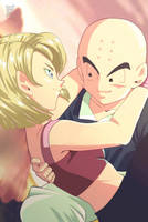 DBZ: Krillin and Android 18! by LadyYomi