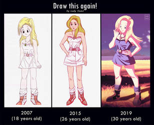 Draw it again: Annie Honey, 2007, 2015 and 2019! by LadyYomi
