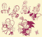 Kame Warriors: Original DB art study (Rice Ritz). by LadyYomi