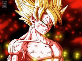 Dragon Ball: SSJ Son Goku -Scene Redraw! by LadyYomi
